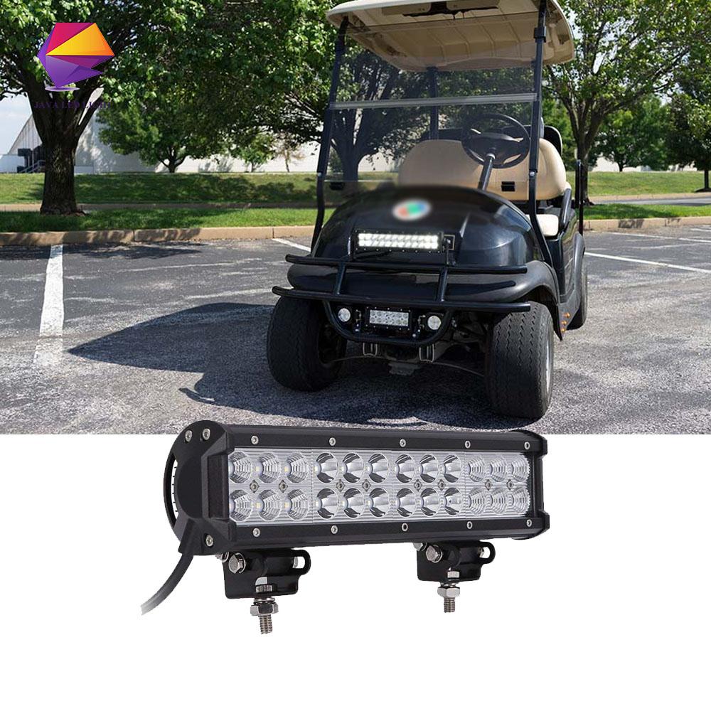 Details About Universal Atv Utv Golf Cart 12 Inch Led Light Bar 72w Light Bar Led Light 12v