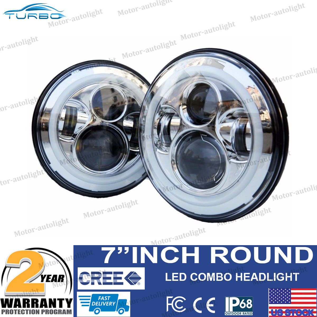 2x 7 Inch Round Halo Angle Eyes Led Headlights For 97 16 Jeep Jk 2007 Wrangler Front Suspension Diagram Besides Tail Light Tj Cj