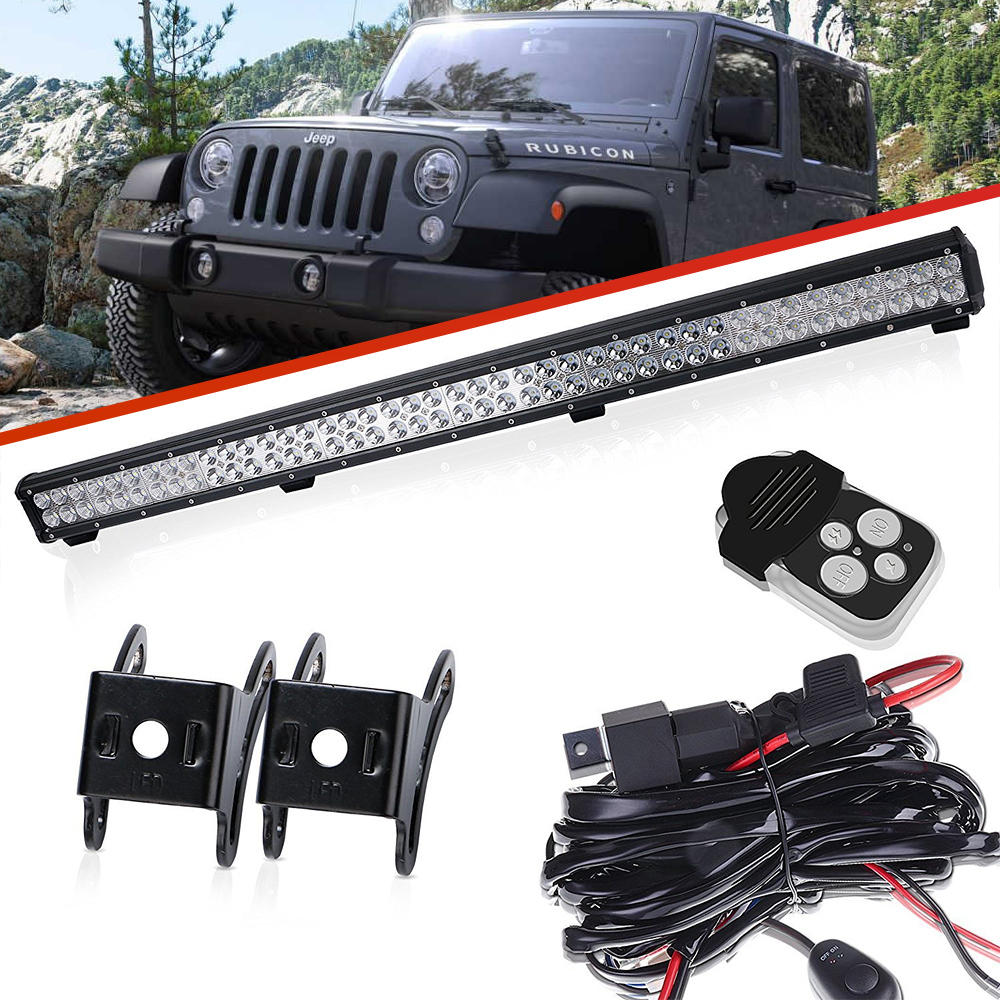 39inch Led Work Light Bar W Wire For Jeep Tractor Boat Off Road Suv Lance Truck Side Wiring Harness Atv