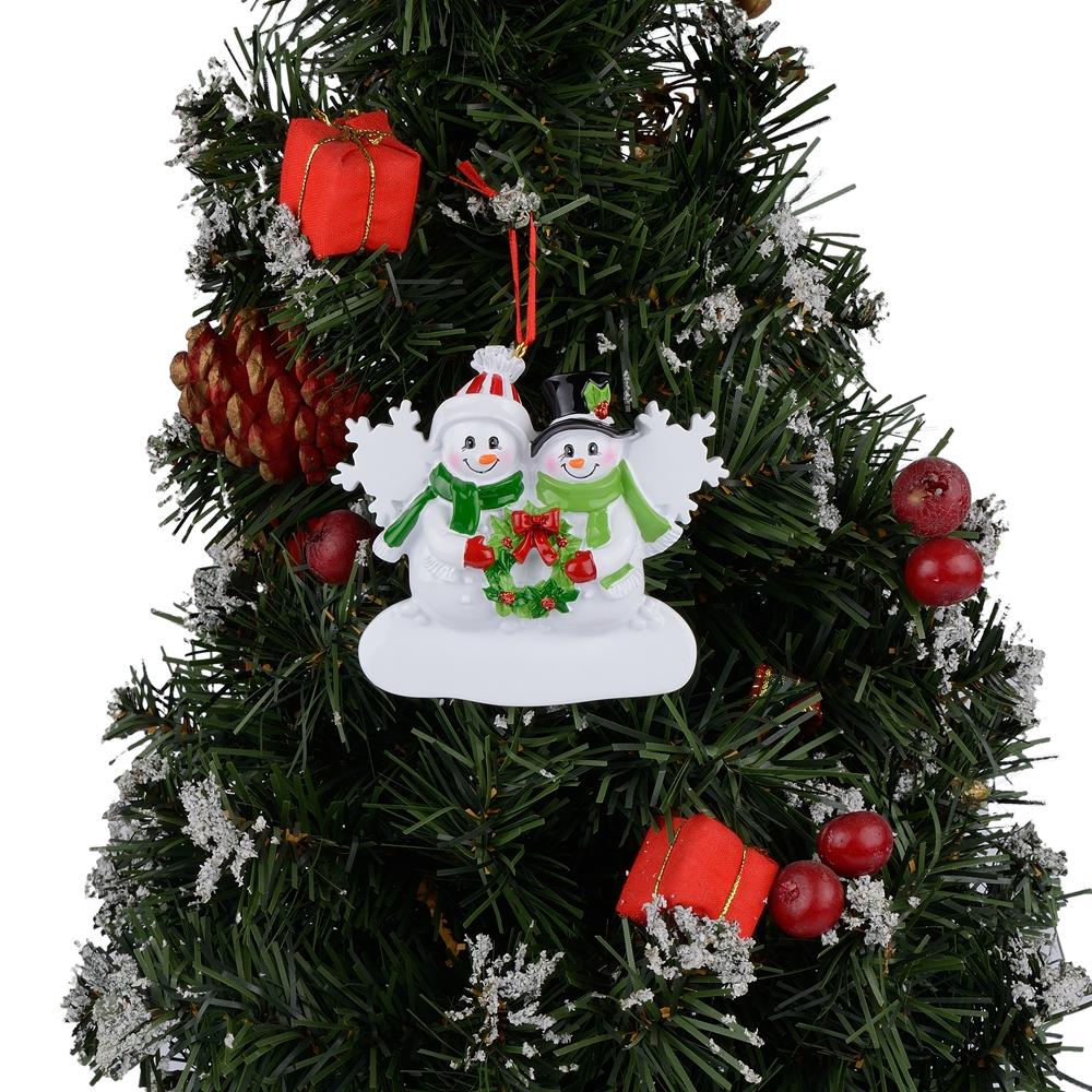 MAXORA Personalized Christmas Tree Ornament Snowman Family ...