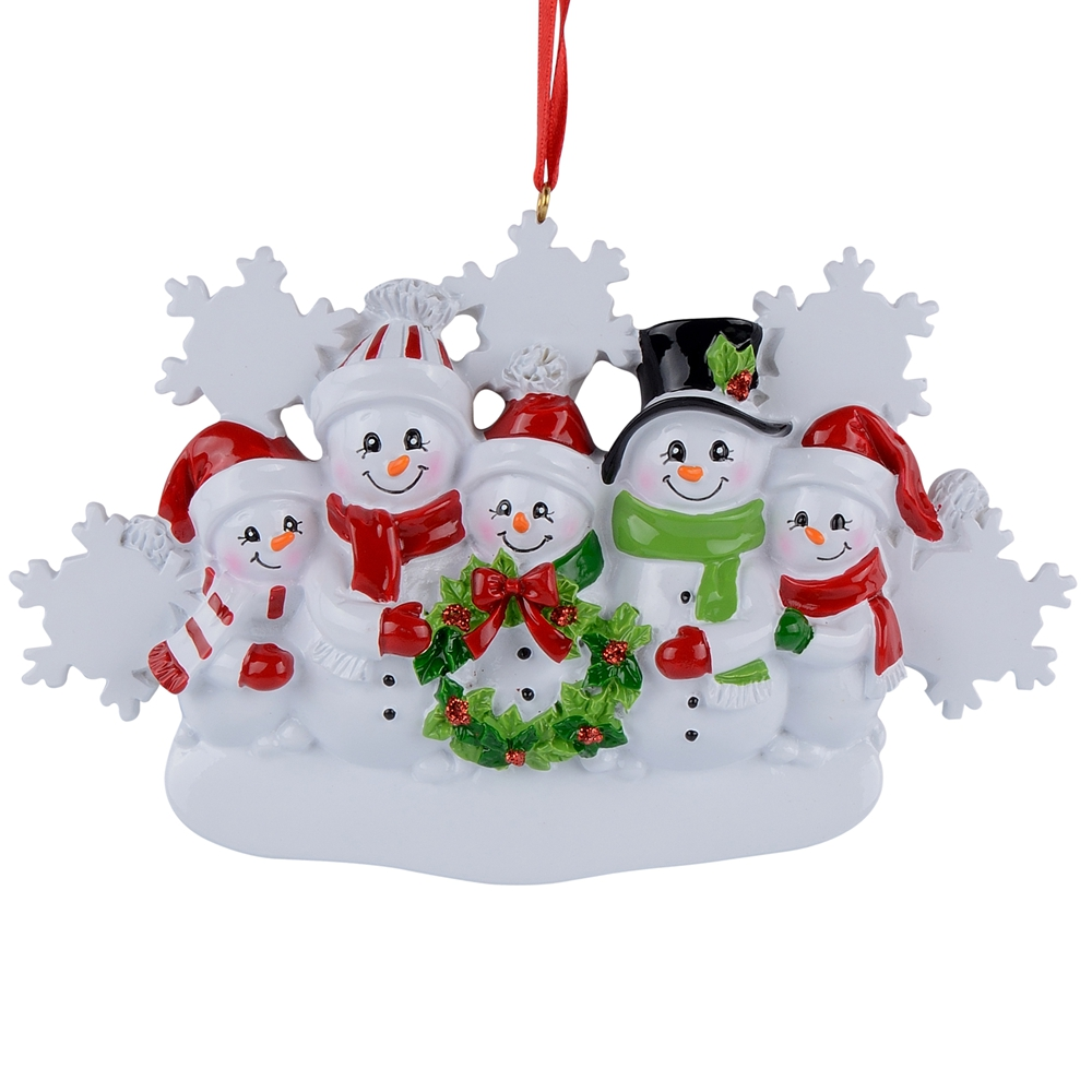 MAXORA Personalized Christmas Tree Ornament Snowman Family ...