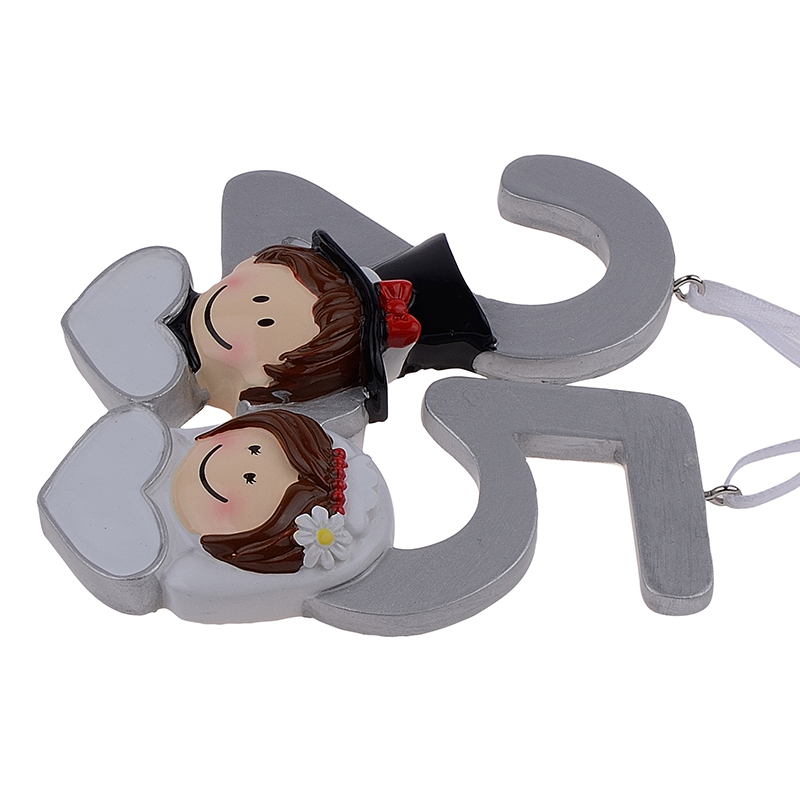 Gifts 25th Wedding Anniversary Couple: MAXORA Personalized Ornament 25th Anniversary Wedding