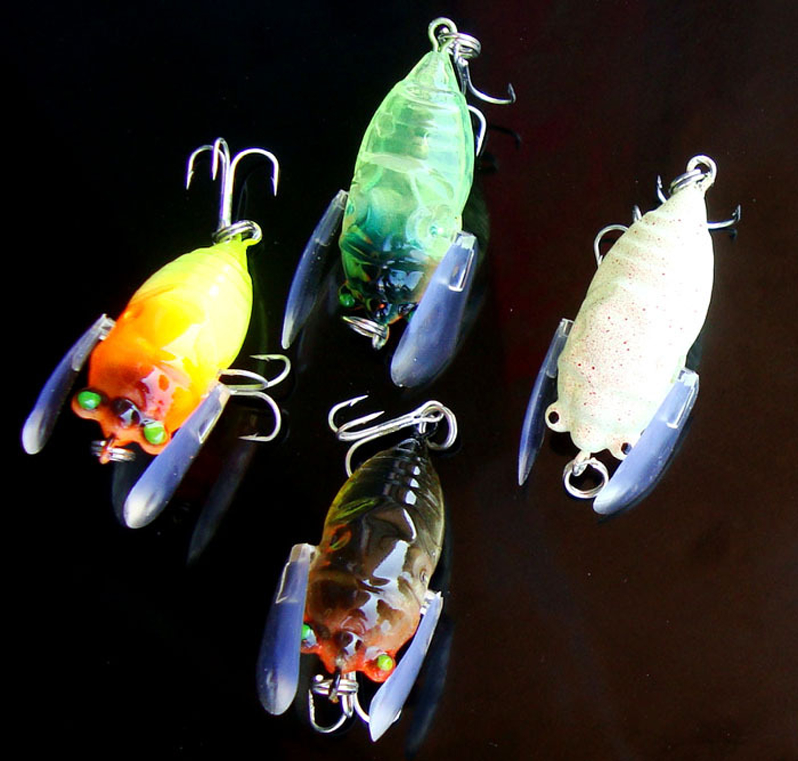 5PCS Fly Fling fishing floating insect bait lure Hook 6g