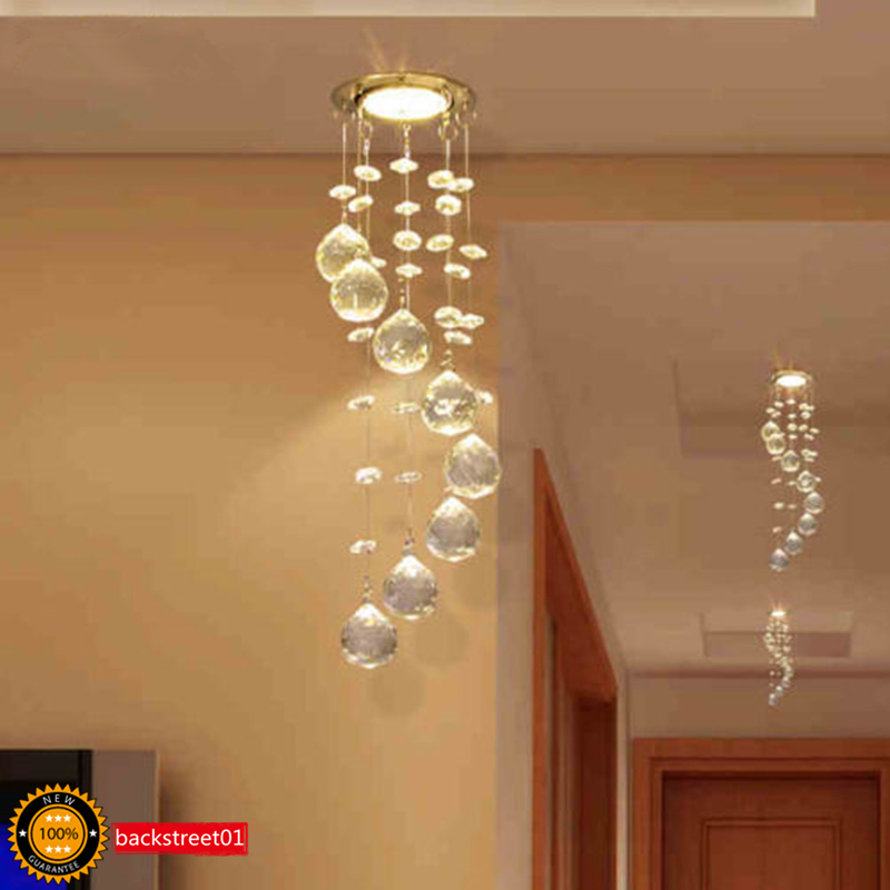 3w Led Crystal Ceiling Light Small Chandelier Lamp Pendant Fixture Hallway Decor Ebay