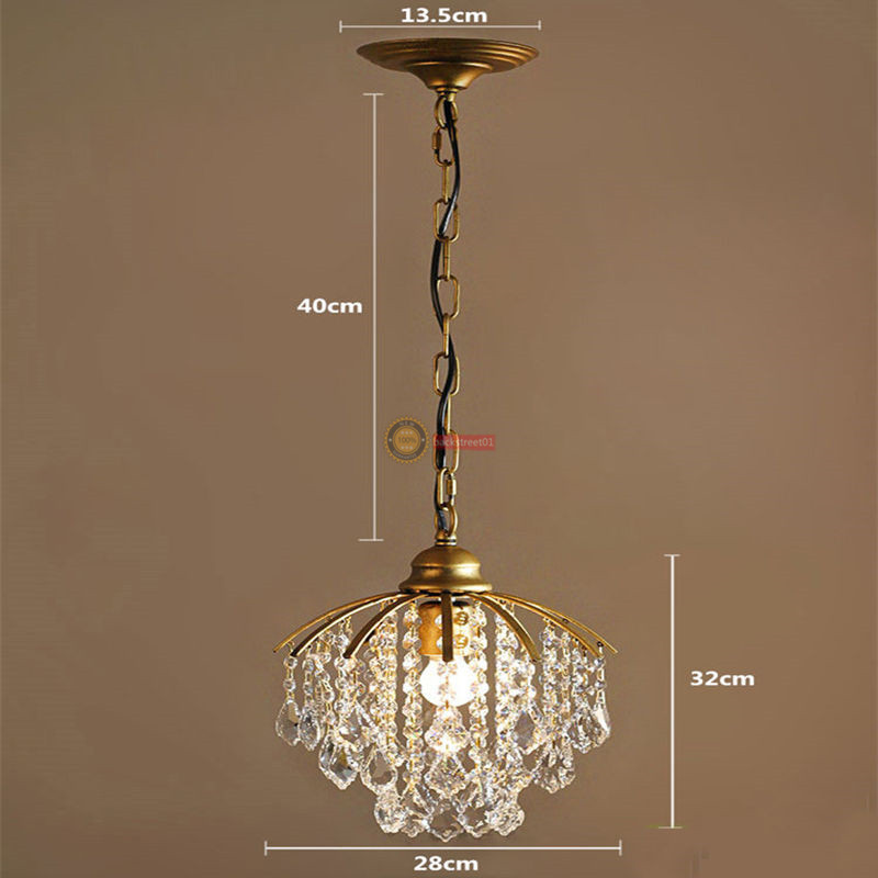 Country Style Ceiling Lamps Crystal Chandelier LED Pendant