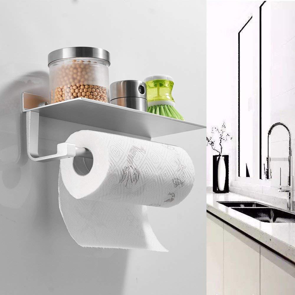304Edelstahl Toilettenpapierhalter Rollenhalter mit Ablage