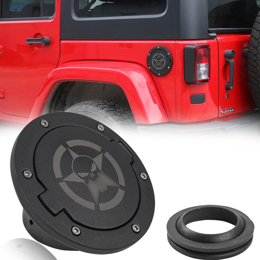 Fuel Filler Door Cover Gas Cap Exterior Accessories For Jeep Wrangler JK 07-17
