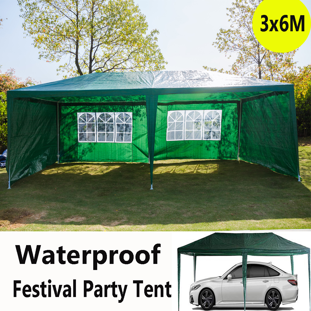 3 x 6M Car Shelter Tent Garden Gazebo Marquee Outdoor Waterproof Party Canopy UK