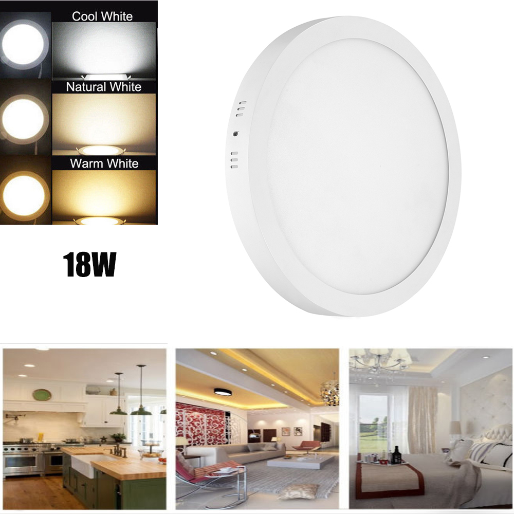 new arrival e3990 a75cb Details about 18W LED Panel Light Warm White LED Recessed Ceiling Wall  Kitchen Downlight Lamp