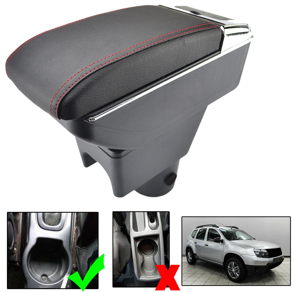 Dual Layer Armrest For Renault Duster I 2010 2015 Storage Box