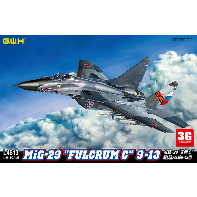 "GreatWall 1//48 L4813 Russian Mig-29 /""Fulcrum C/"" 9-13 New"