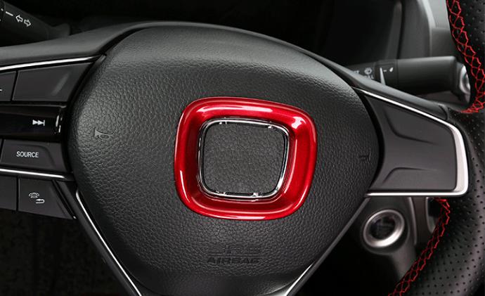 1PCS ABS Red Steering wheel Bottom Molding Cover Trim For Honda Civic 2016-2018