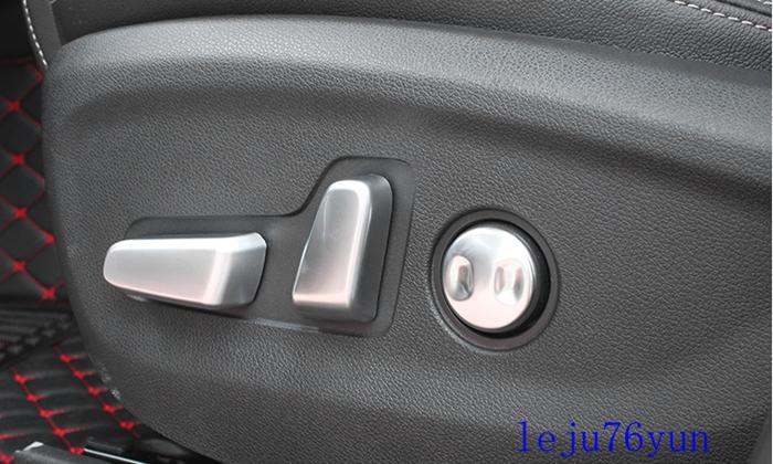 5PCS Interior Seat Adjustment Button Cover Trim For Kia Sportage KX5 2016-2017