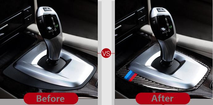 For BMW 5 Series E60 2008-2010 M Sports Carbon Fiber Gear Shift Box Frame Trim