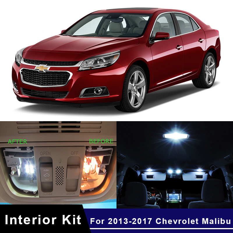 White Malibu Car >> Details About 9x Led White Car Lights Interior Package Kit For 2013 2017 Chevrolet Malibu