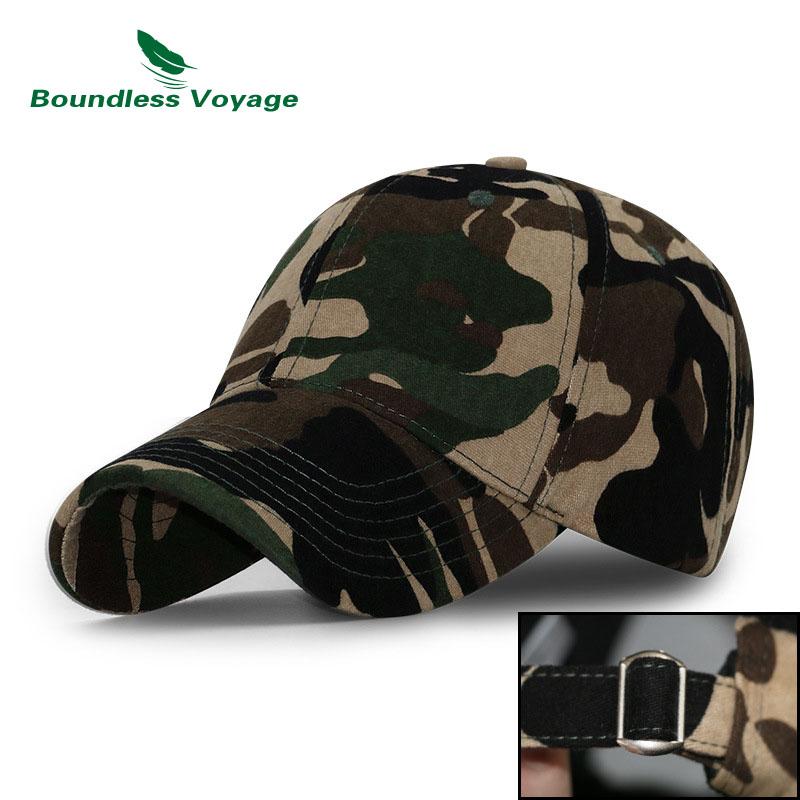 Cotton Camo Sports Hat Outdoor Run Cap Baseball Cap Shadow Structured Breathable