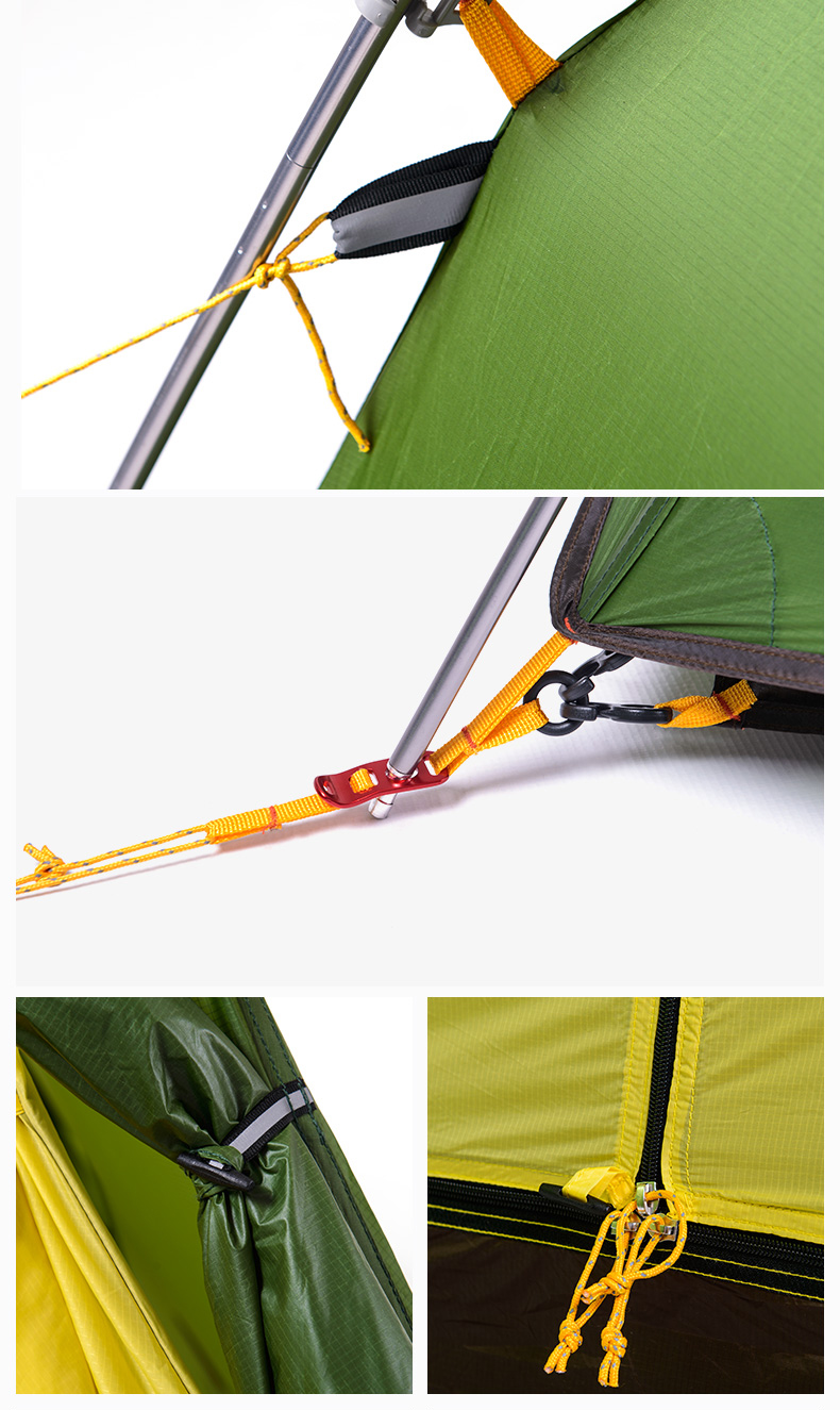 Tent fly material 20d nylon ripsto. Tent fly waterproof PU coated  4000mm. Inner tent material  20d nylon ripstop. Mesh material b3 polyester mesh  sc 1 st  eBay & Outdoor 4 Season Camping Tent Rainproof Mountainnering Tent for 2 ...