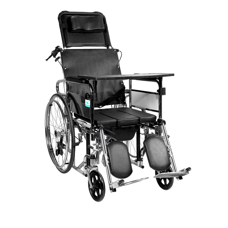 Heavy Duty multifunction folding Recliner wheelchair Removable commode stretcher  sc 1 st  eBay & Heavy Duty multifunction folding Recliner wheelchair Removable ... islam-shia.org