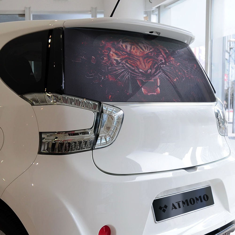 1x3d Transparent Car Back Rear Window Decal Vinyl Sticker