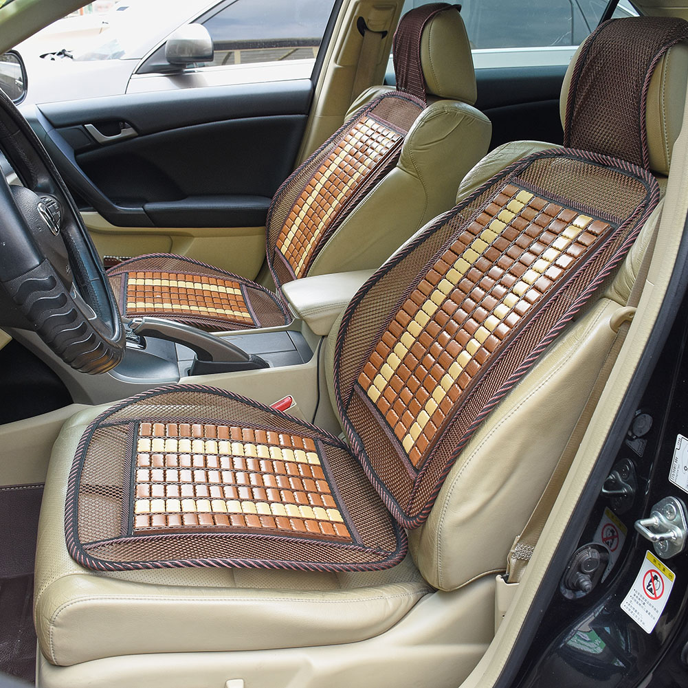 Outstanding Details About 2X Bamboo Seat Cover Cool Cushion For Auto Car Truck Office Chair Seat Cover Squirreltailoven Fun Painted Chair Ideas Images Squirreltailovenorg