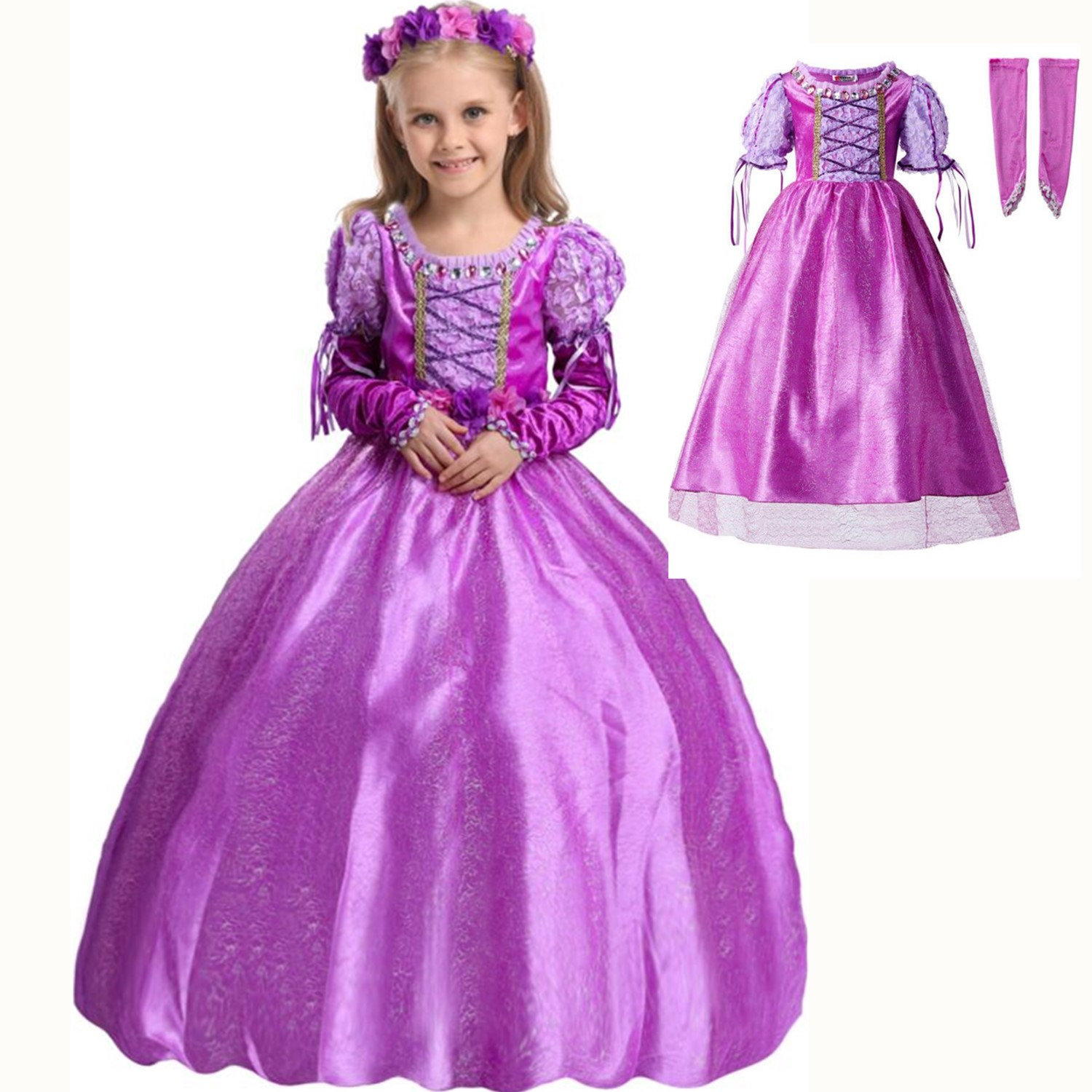 New Nip Disney Baby Girls Halloween Cinderella Costume 6: Disney Inspired Dress Rapunzel Princess Costume Kids Girls