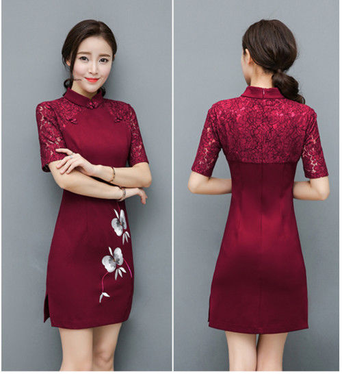 Vintage Elegant Chinese Women Dress Qipao Cheongsam Evening Party