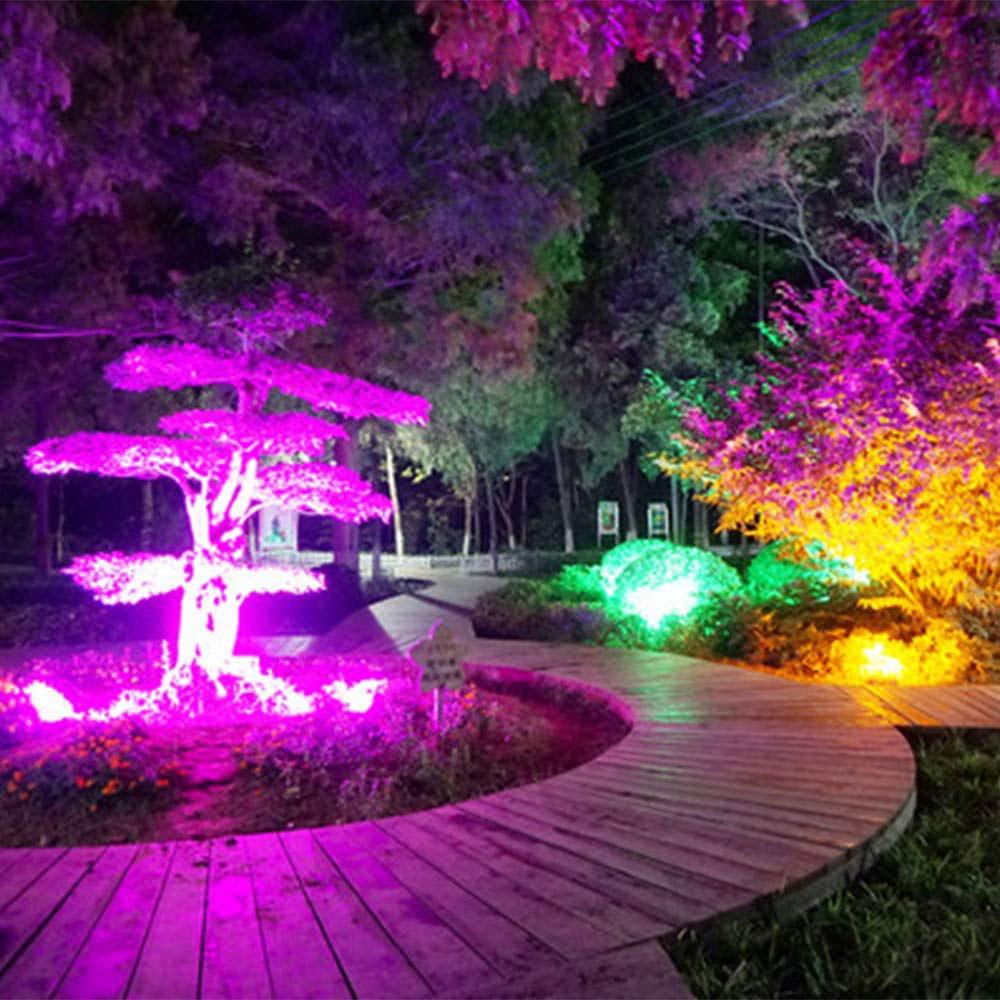RGB Outdoor Garden Landscape Flood Lamp 7 LED Solar Spot Light Path Wall Light