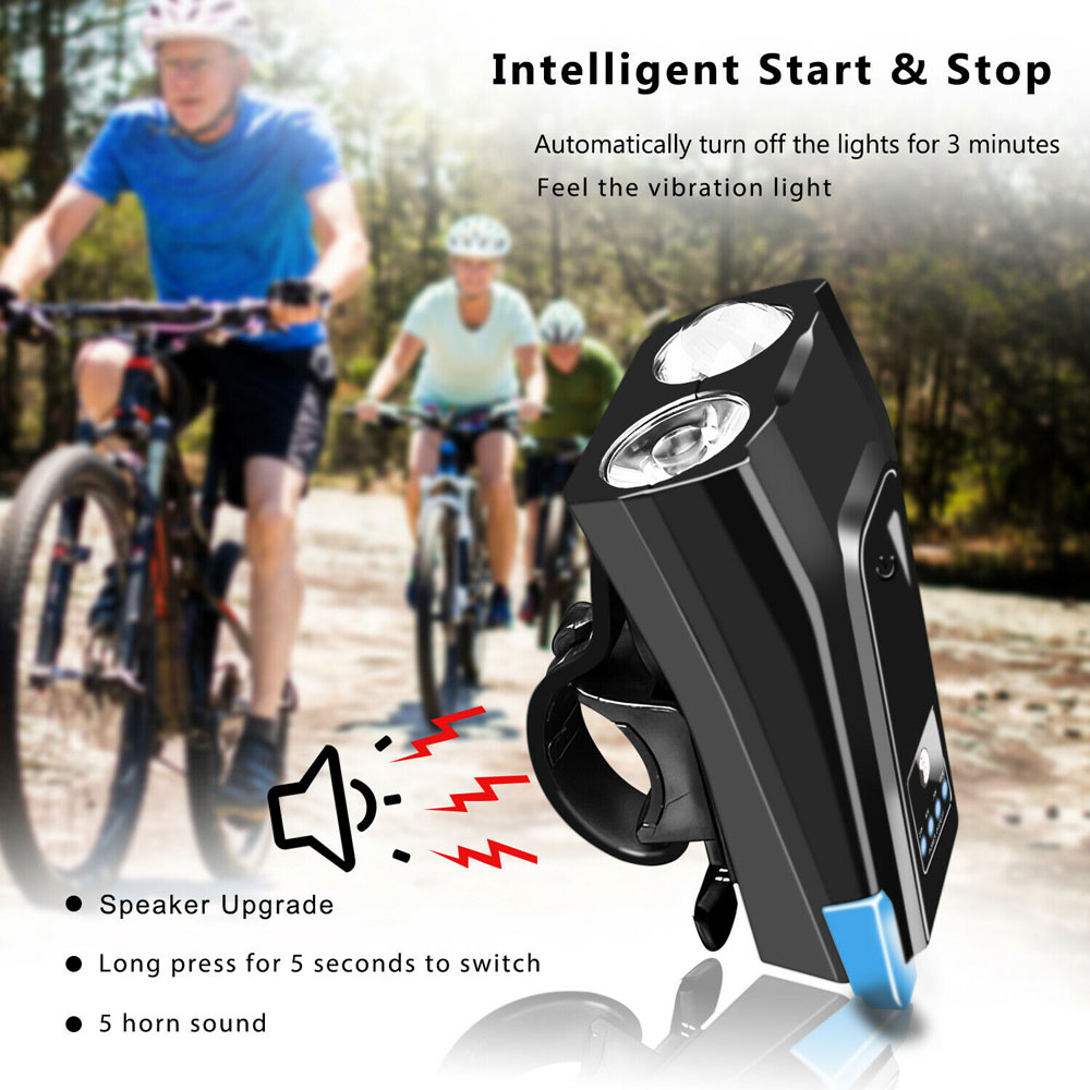 USB Rechargeable T6 LED Bicycle Bike Front Head Light Headlight Lamp 140dB Horn