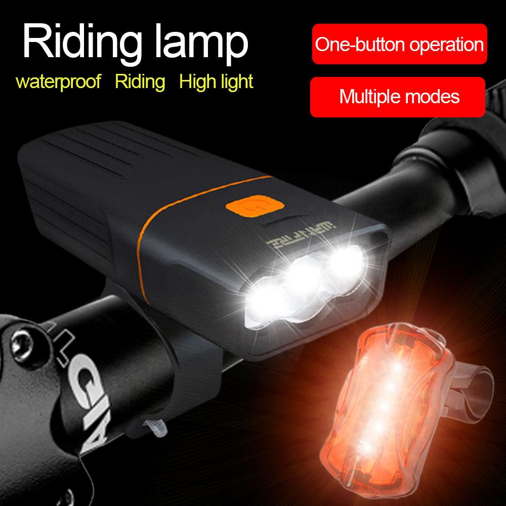 2PCS Bike Light Set Super Bright USB RECHARGEABLE Bicycle Lights Waterproof IPX4