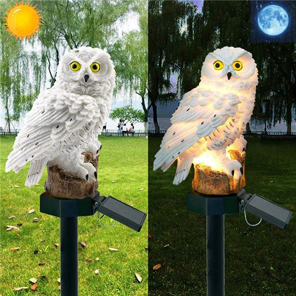 Énergie Éclairage Jardin Nuit De Lumières Hibou Led Extérieur Forme 2pcs Lampe Décoration Solaire Pelouse À 8mnvNO0w