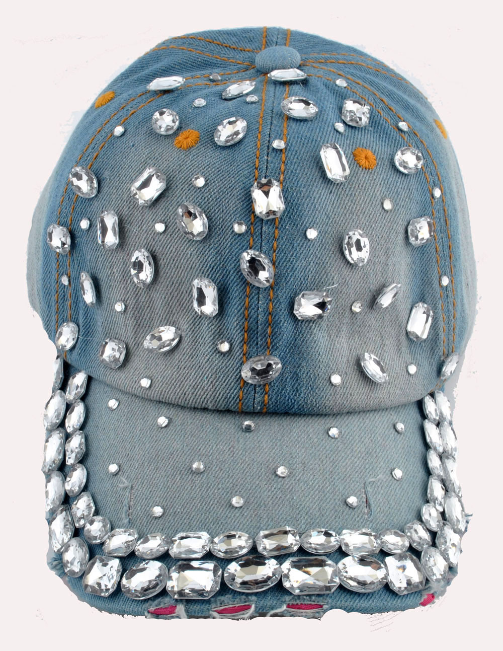Chic Womens Men/'s Rhinestone Crystal Baseball Cap Bling Denim Sunhat Tennis Hats
