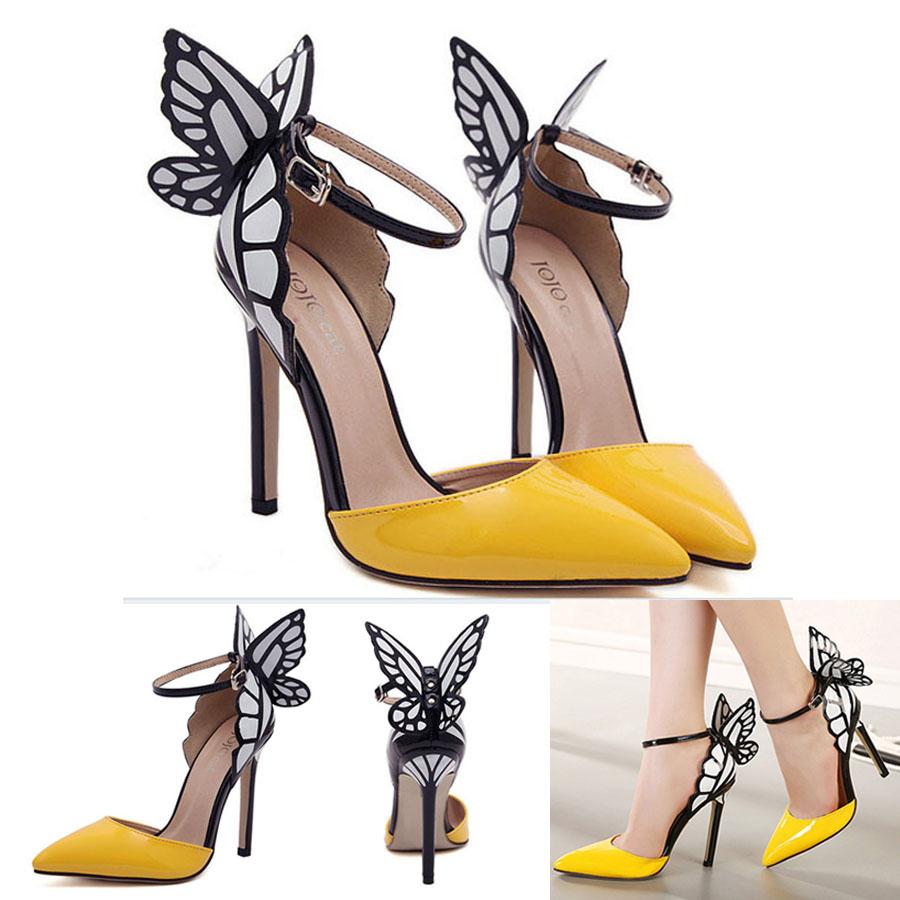 Chic Butterfly Wings High Heels Women Sophia Vampire Diaries Party Sandal Shoes