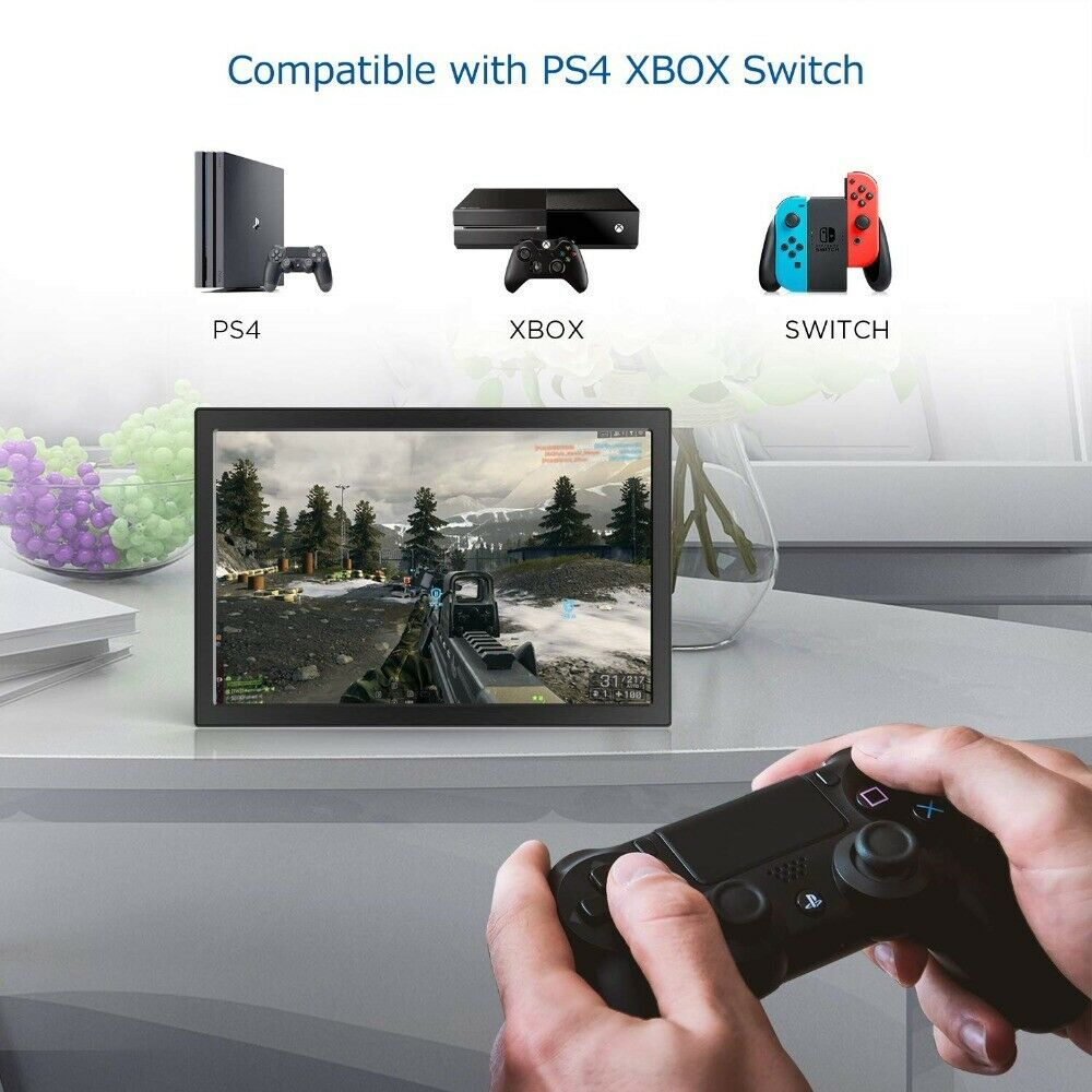 11,6 Zoll Usb Portable Monitor PS3 XBOX PS4 HDMI IPS LCD Nicht Touchscreen CDDE