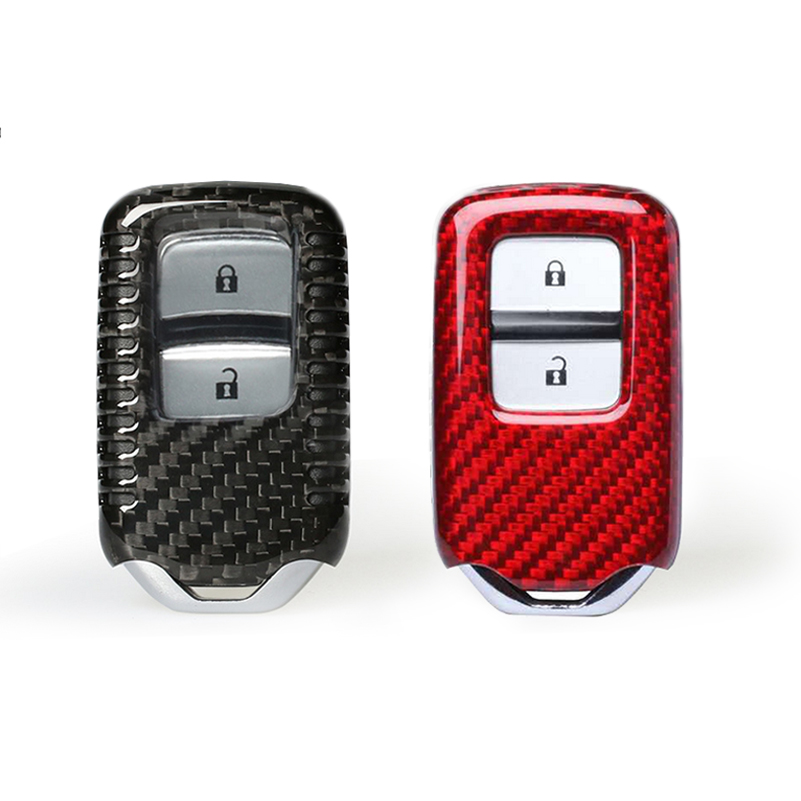 Carbon Fiber Keyless Remote FOB Cover Key Case For 2015 Honda Civic Accord FIT