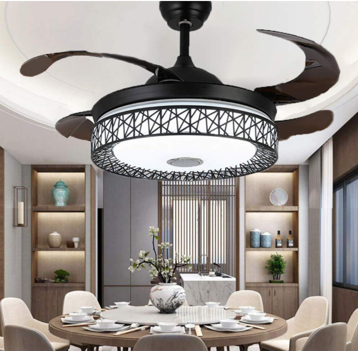 42 Quot Invisible Bluetooth Music Player Ceiling Fan Light Led