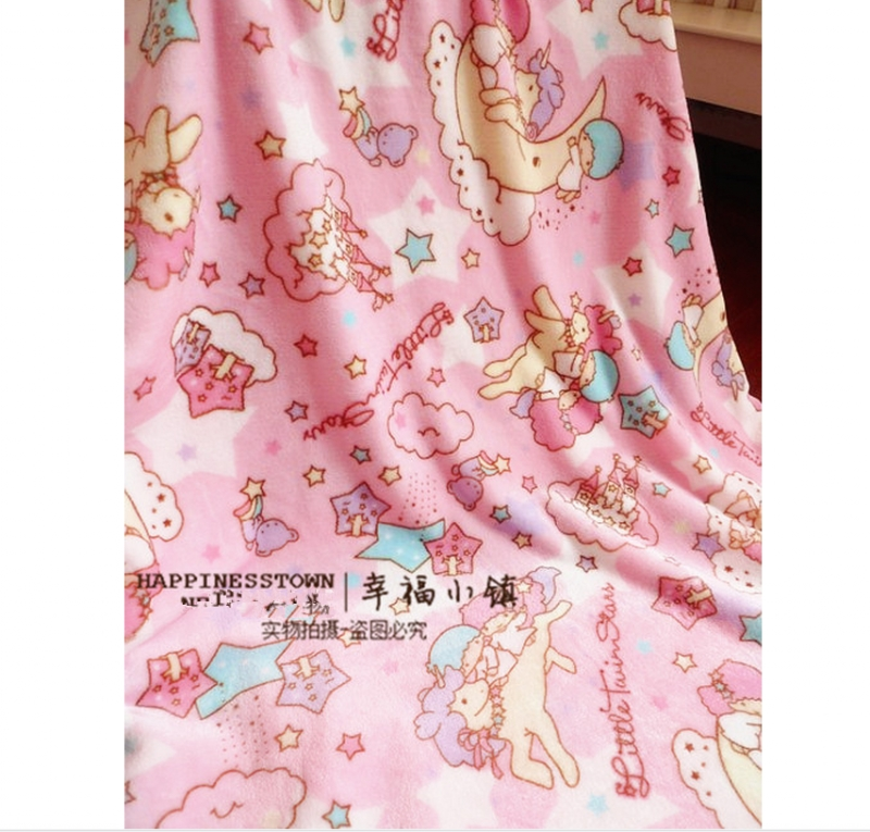 """New Kawaii Bowknot My Melody Kitty Blanket Flannel Bed Sheet 55/""""*79/"""" Girls Gift"""