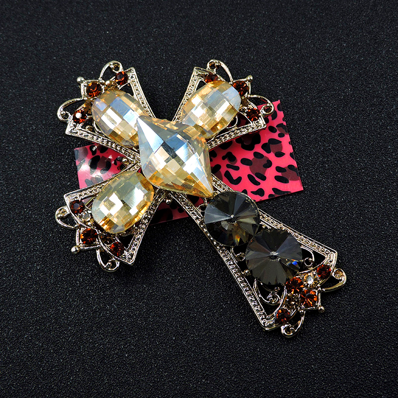 Pin By Crystal Johnson On Baldwin Hills Dam Break: New Yellow Crystal Cross Crystal Rhinestone Betsey Johnson