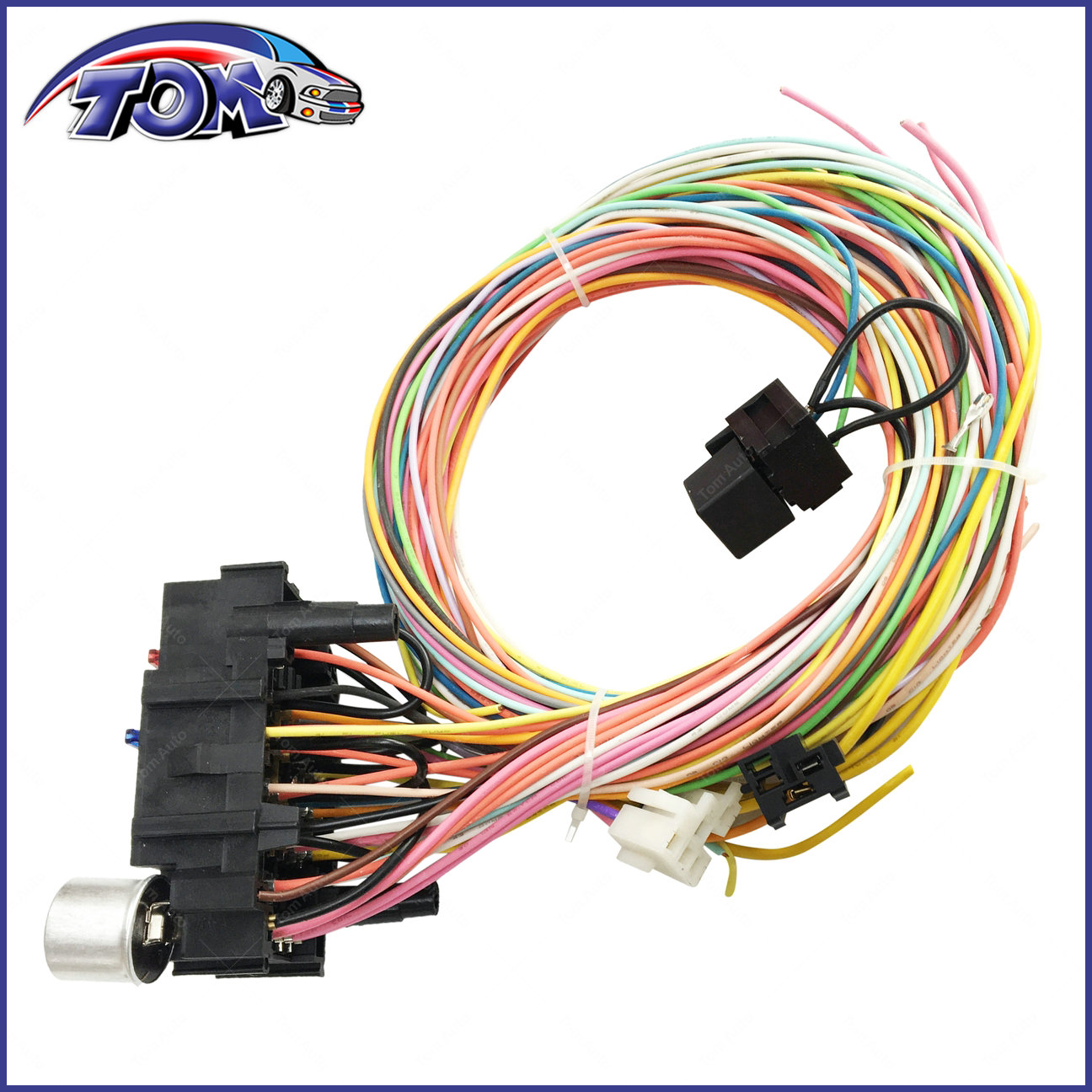 21 Circuit Wiring Harness Chevy Mopar Ford Hotrods Universal Extra Connectors Long Wires