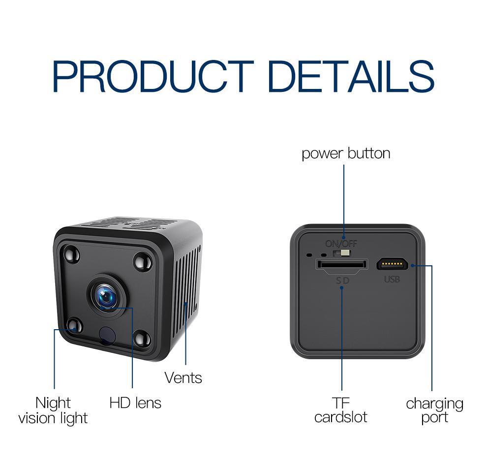 mini wifi kamera kabellos berwachungskamera 720p aussen innen kamera babyphone ebay. Black Bedroom Furniture Sets. Home Design Ideas