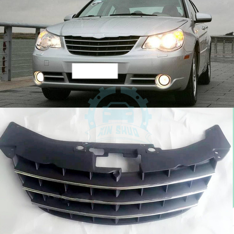 Details About 1pc Auto Part Fit For Chrysler Sebring 2008 Front Hood Black Grill Grille