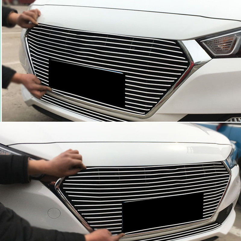 Details about Front Upper Grille Grill Decorative Trim Fit For Hyundai  Verna 2014-2016