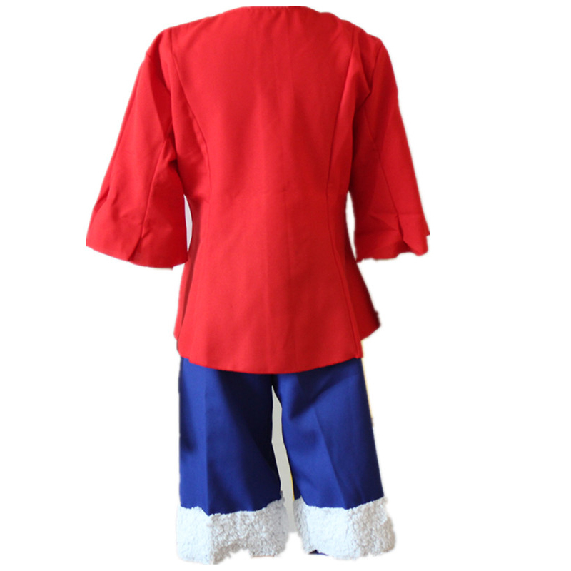 Luffy Gladiator Second Outfit: ONE PIECE 2nd Generation Monkey D Luffy Mens Costume