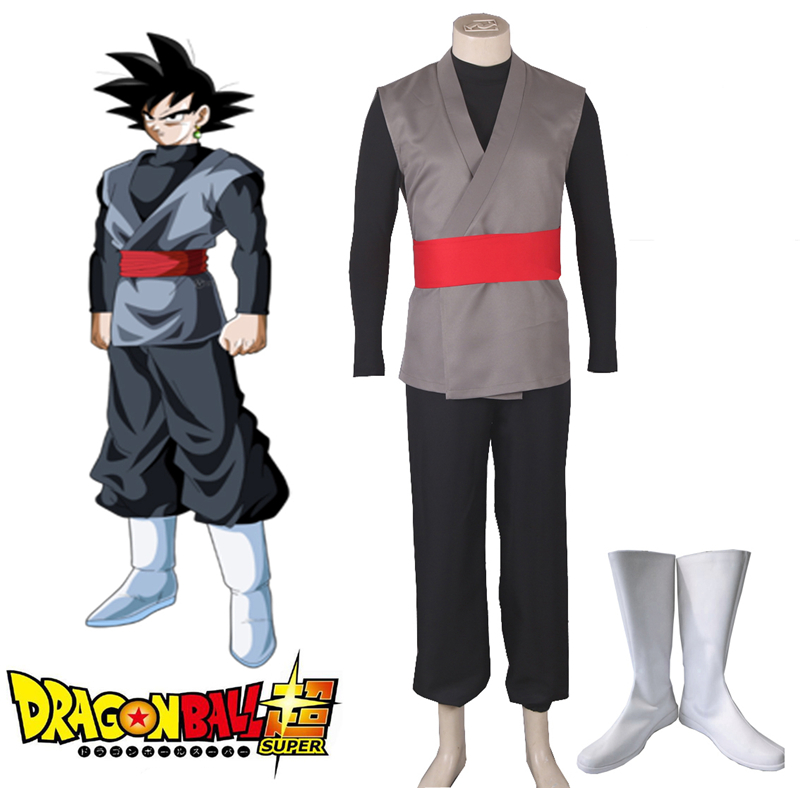 Details about Dragon Ball Super Goku Black Fighting Costume Boots Cosplay  Halloween Mens New