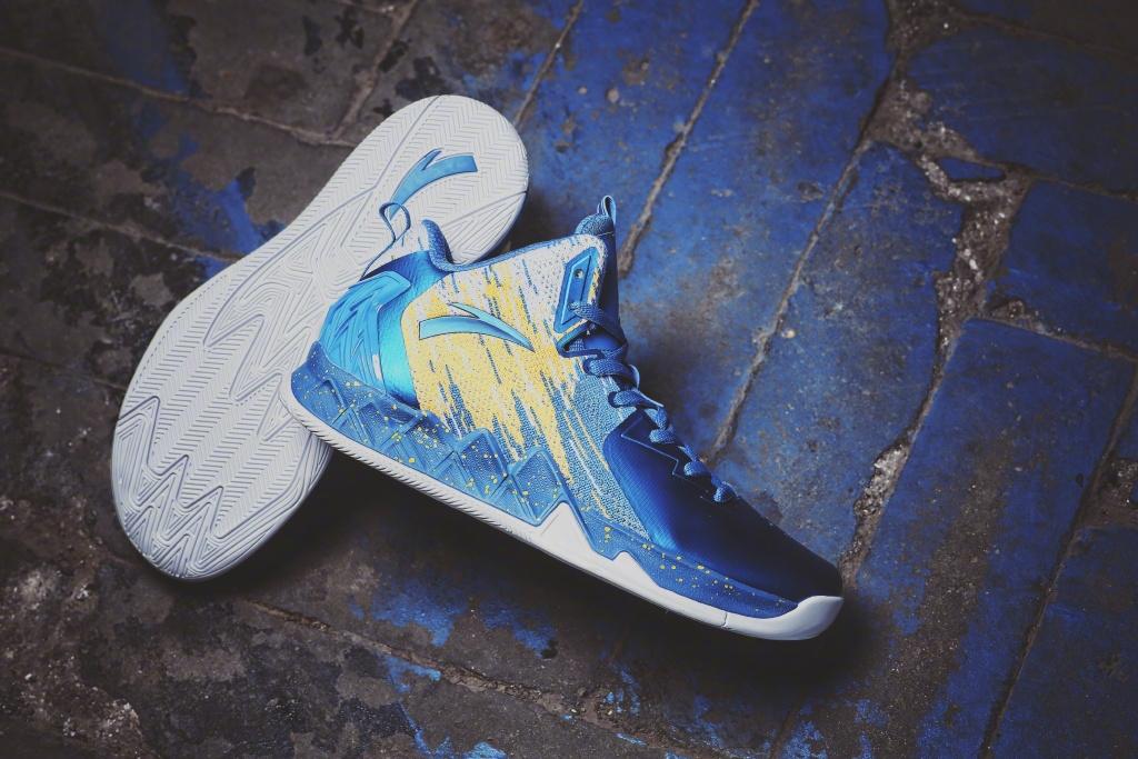 fcd3df9808af Anta KT2 NBA Golden states warriors basketball shoes for Klay ...
