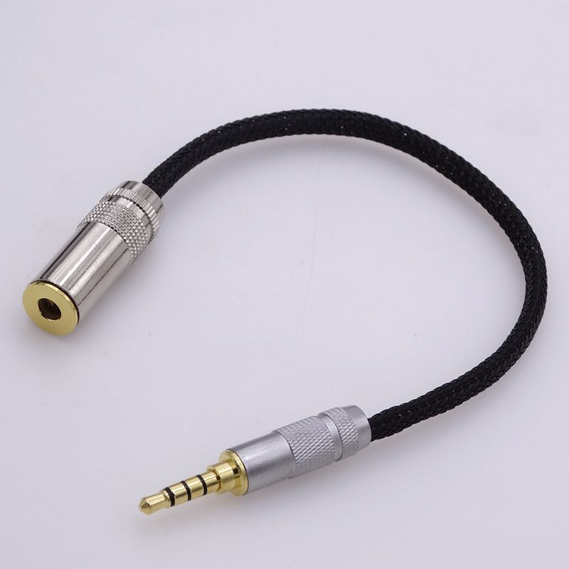 2.5mm TRRS to 4.4mm Female Balanced Hi-end Silver Plated Cable Adapter for Sony 4.4mm Headphone Cable