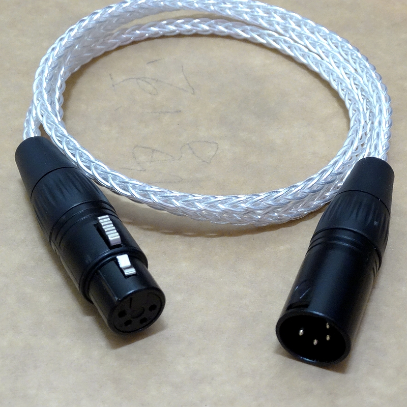 8 Cores 4 Pin Xlr Balanced Audio Male To Female Headphone Extension Cable Ebay
