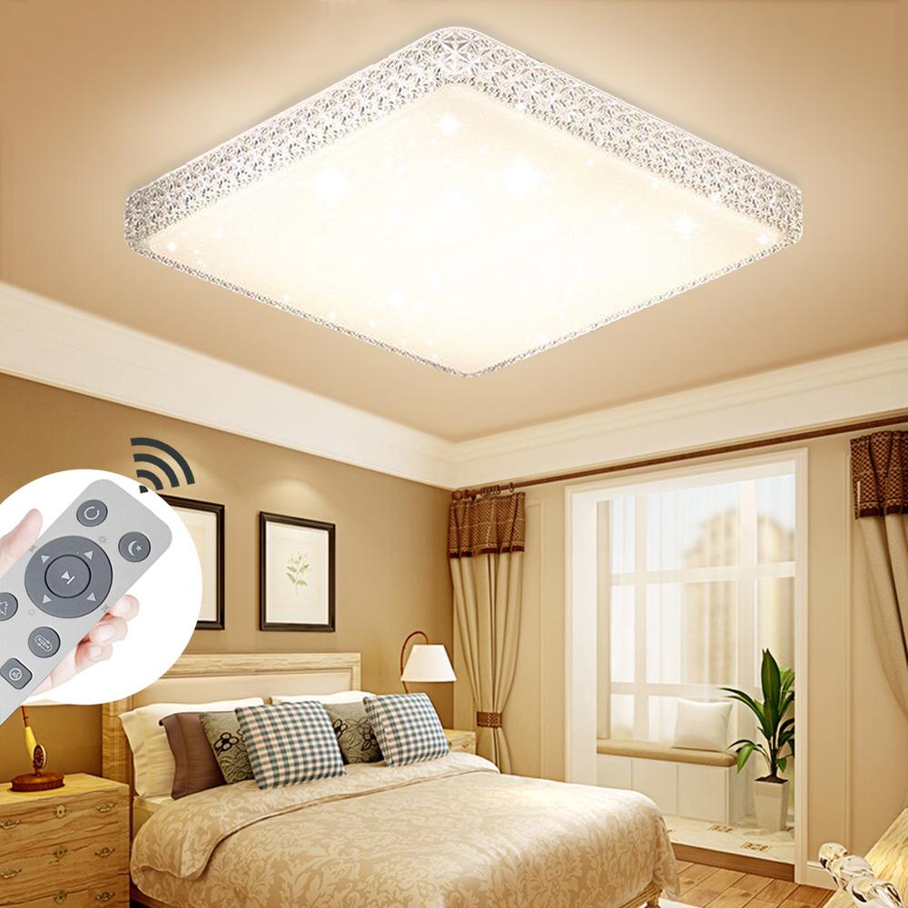 24w 48w led deckenleuchte kristall deckenlampe dimmbar for Deckenlampe schlafzimmer