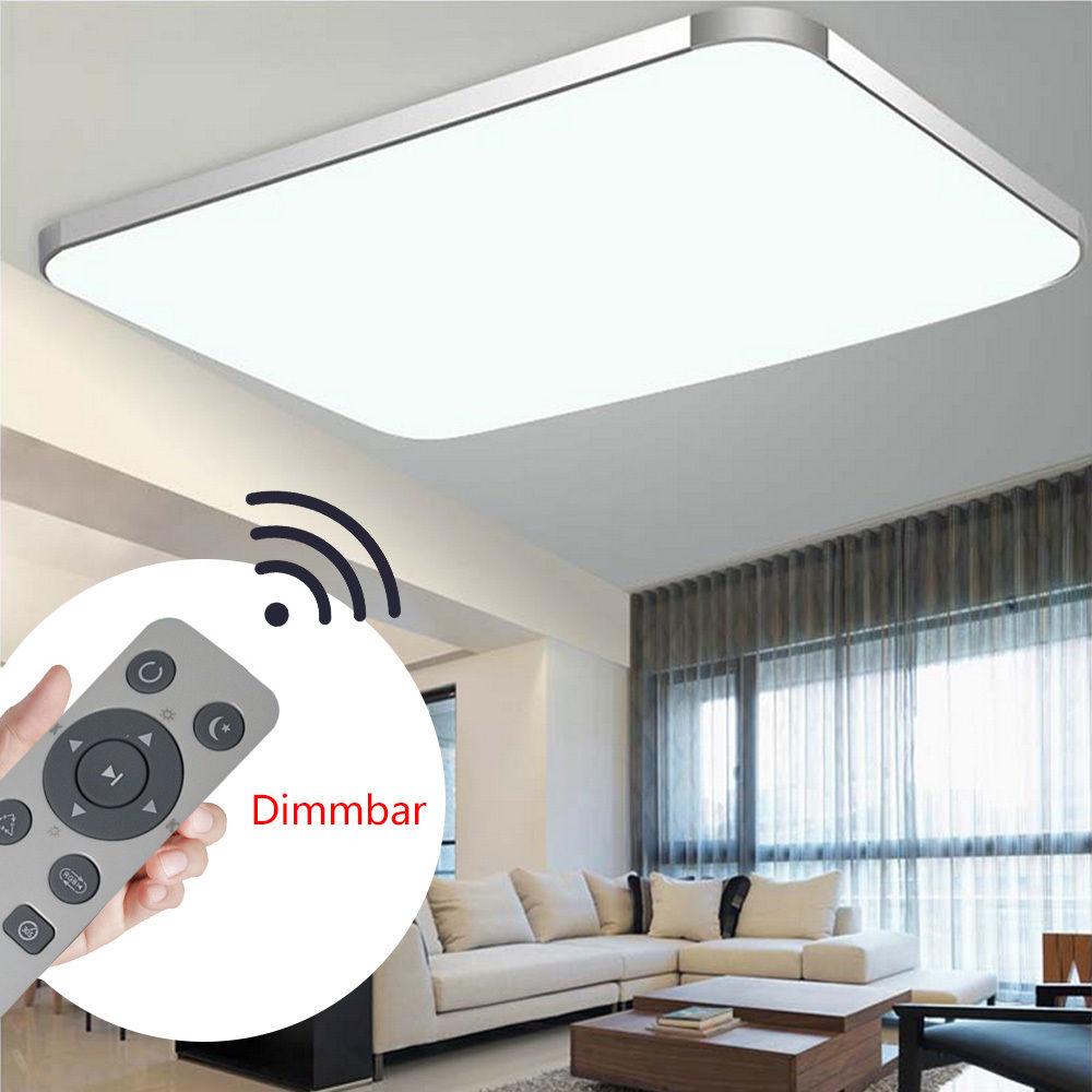72w ultraslim led deckenleuchte dimmbar deckenlampe wohnzimmer schlafzimmer ebay - Wohnzimmer led deckenleuchte ...