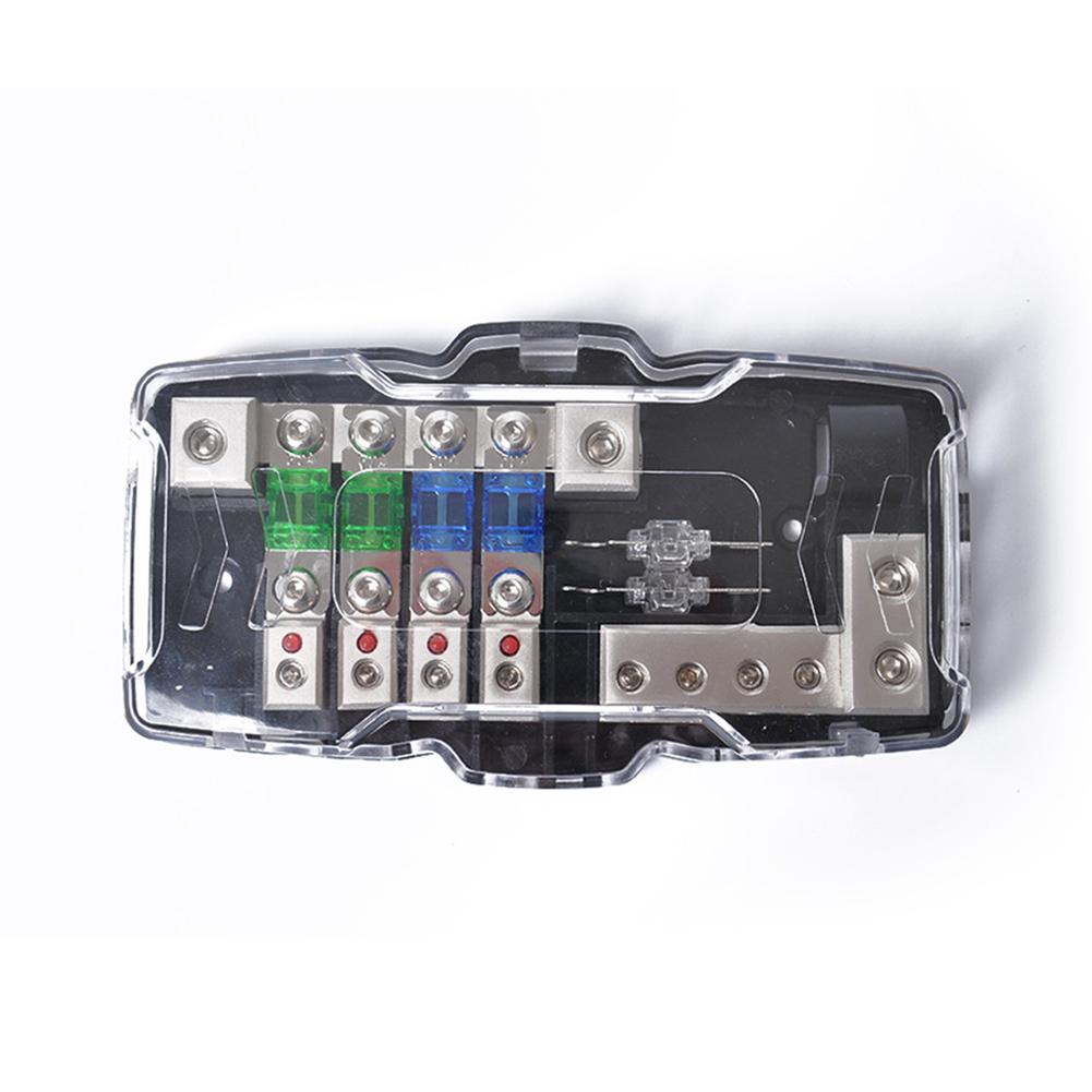 4 8ga Multifunctional Led Car Mini Anl Fuse Box With Way Handle Block Holder