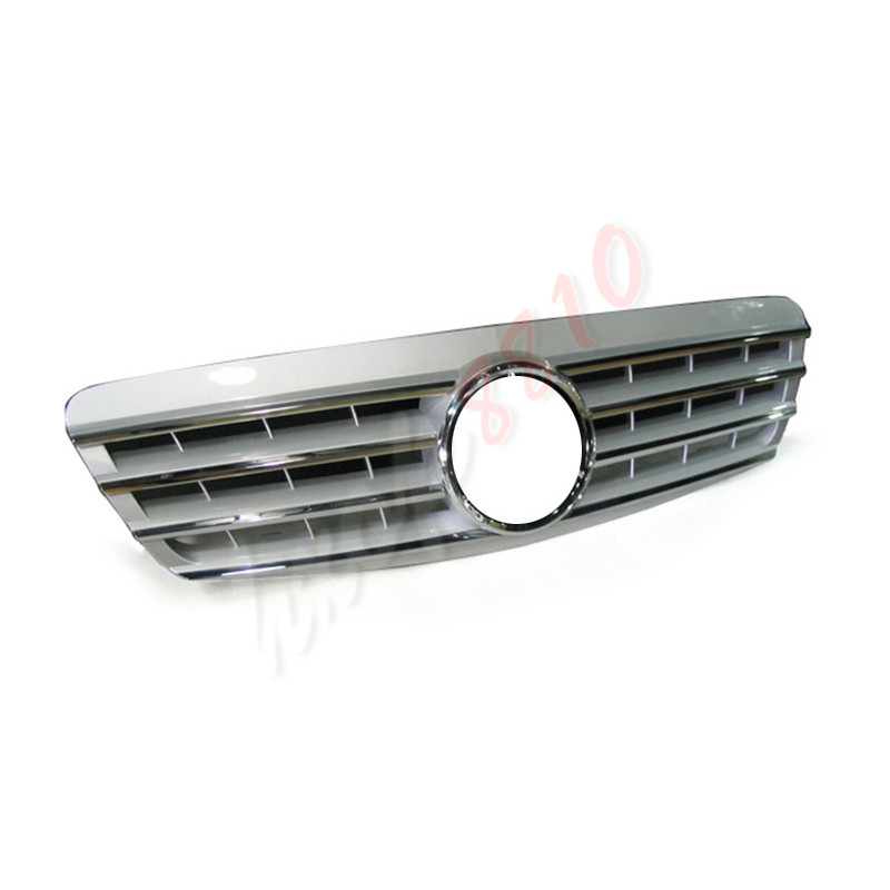 Front Grille Vent Fit For Mercedes Benz B B200 B Class: Fit For 2000-02 Mercedes-Benz S Class W220 Silver Style